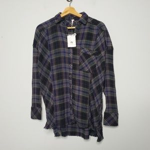 New Free People Plaid Shirt Size XS Top